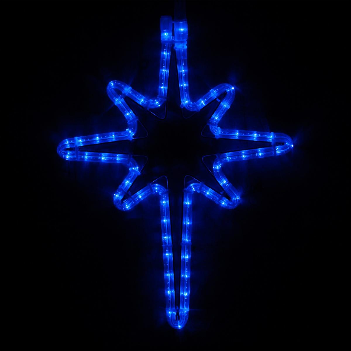 Snowflakes Amp Stars 18 Quot Led Bethlehem Star Blue Lights