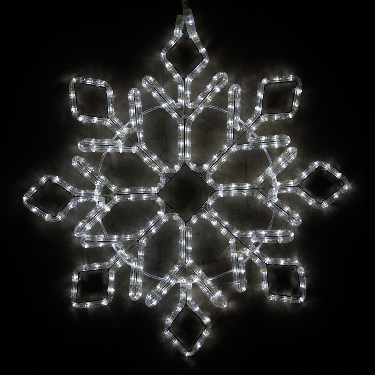 Snowflakes Amp Stars 24 Quot Led Diamond Tipped Snowflake