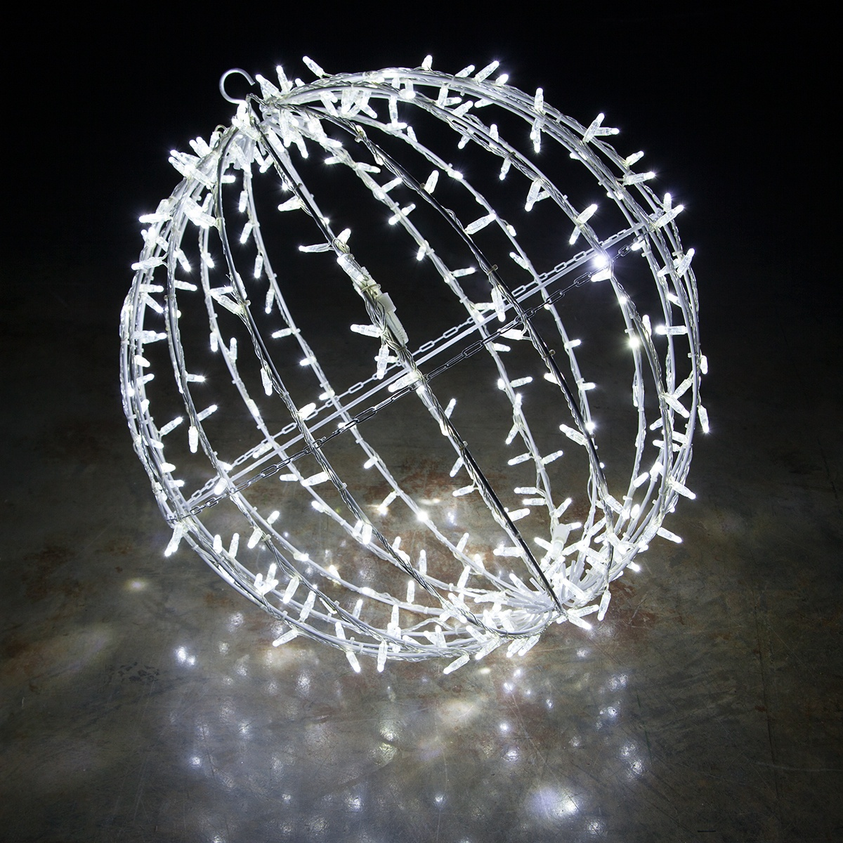 Cool White Led Commercial Mega Sphere Christmas Light