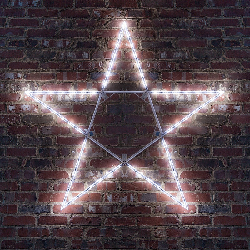 Christmas Decorations Outdoor Star : Snowflakes stars quot led folding star decoration
