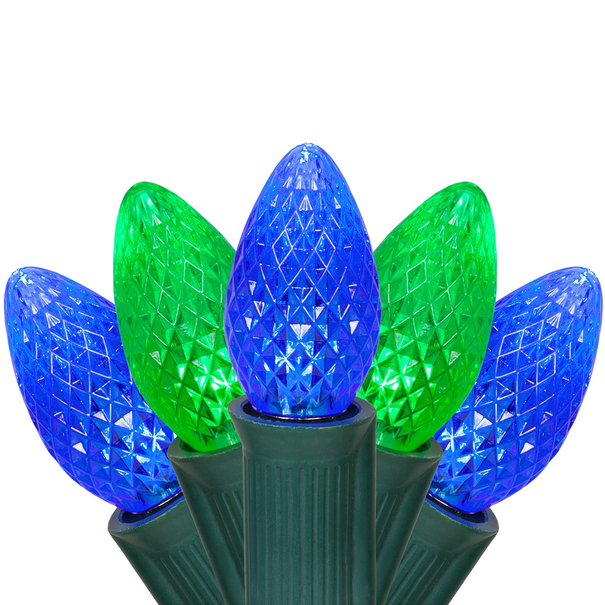 Halloween Lights C7 Green Blue Commercial Led