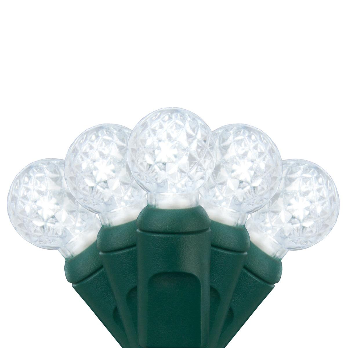 LED Christmas Lights - 70 G12 Cool White LED String Lights, 4\