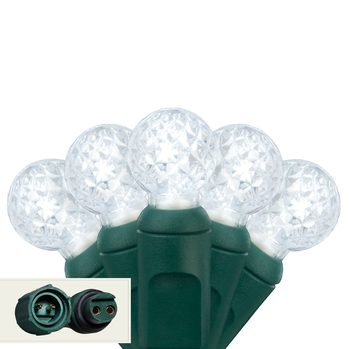 Led Christmas Lights Commercial 25 G12 Cool White Led