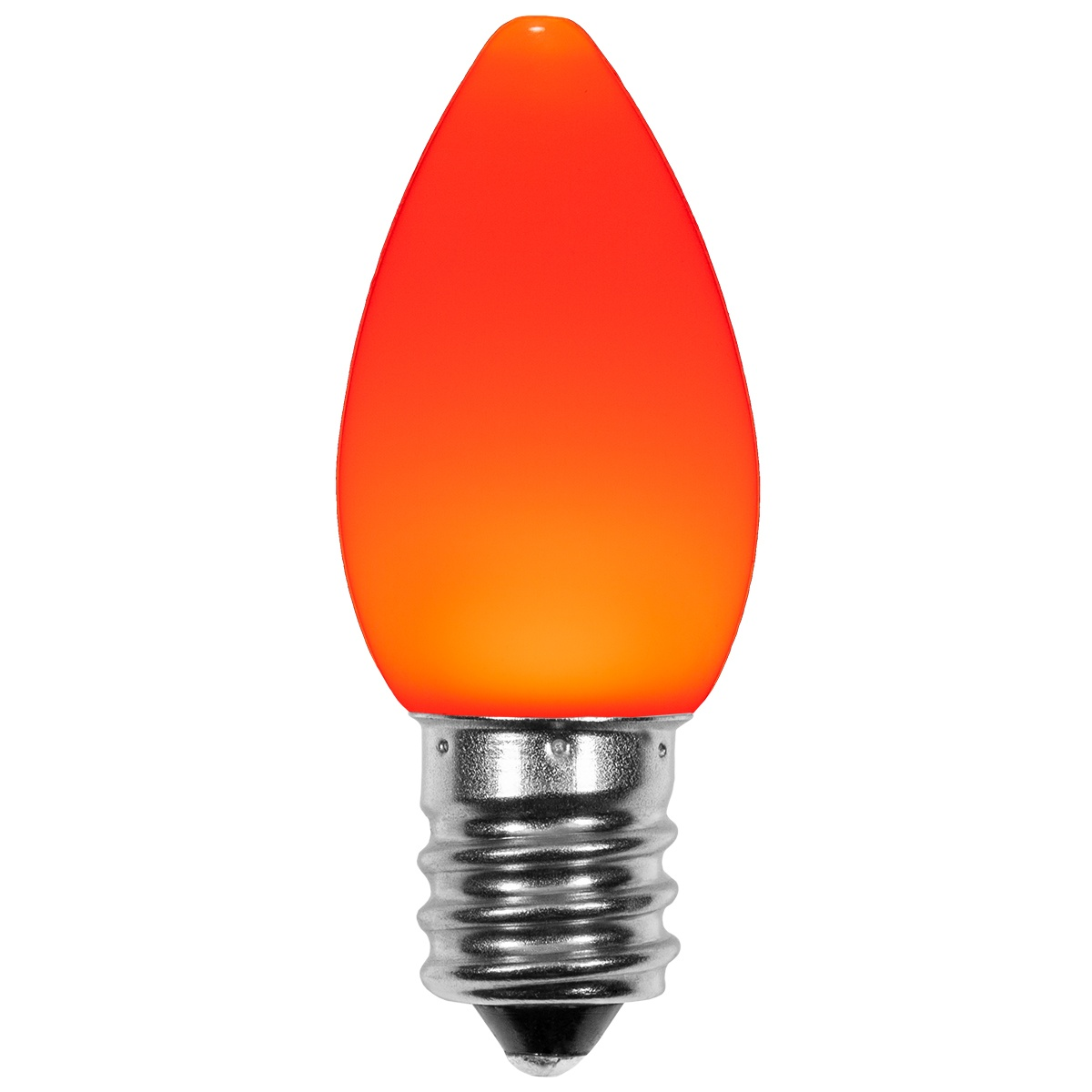 C7 Amber Orange Smooth Opticore Led Christmas Light Bulbs