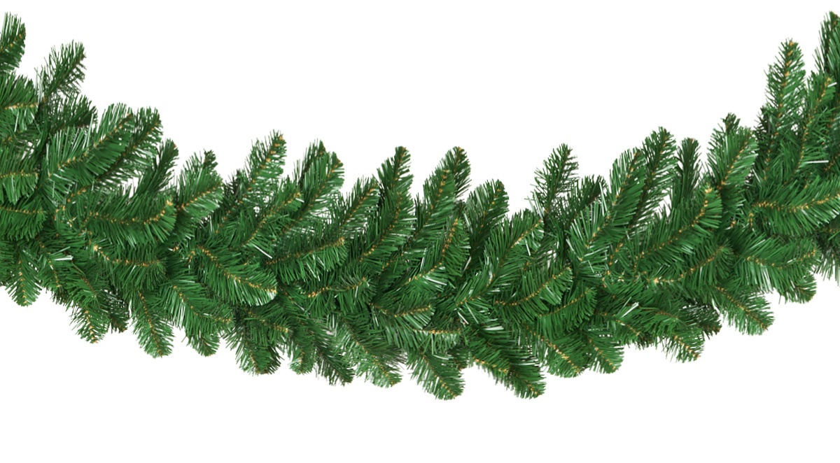 Lighted Christmas Garland Oregon Fir Prelit Commercial