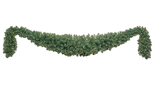 Olympia Pine Prelit Commercial LED Swag Christmas Garland, Warm White Lights - Lighted Christmas Garland - Olympia Pine Prelit Commercial LED Swag