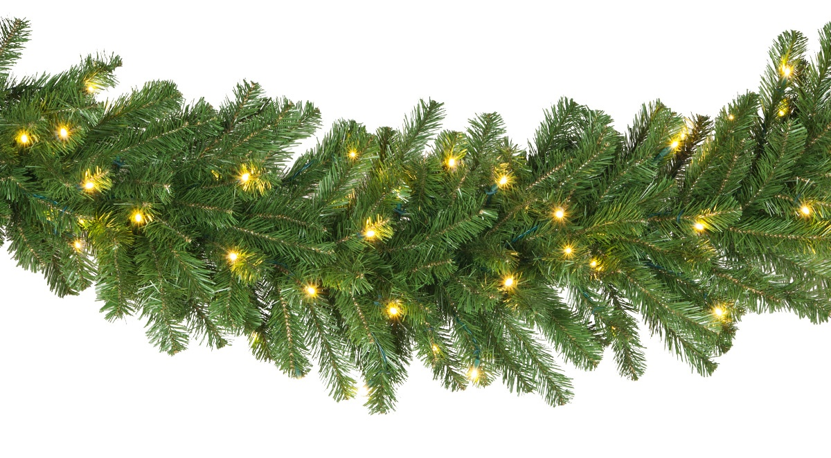 Lighted Christmas Garland Olympia Pine Prelit Commercial