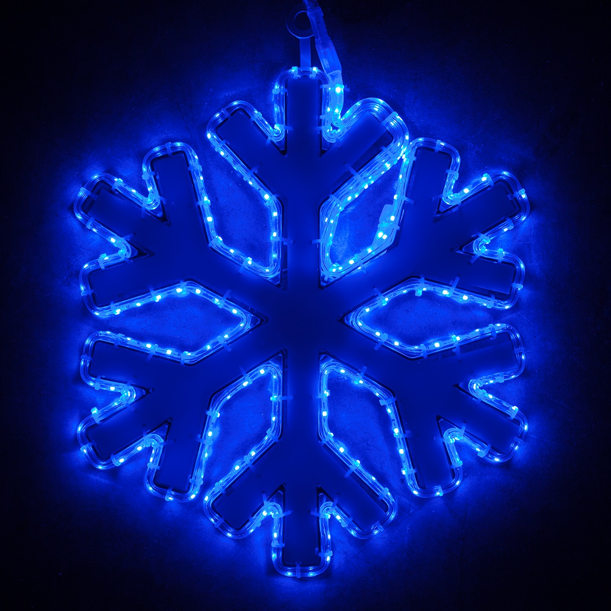 Snowflakes Amp Stars 16 Quot Blue Led Snowflake With Blue