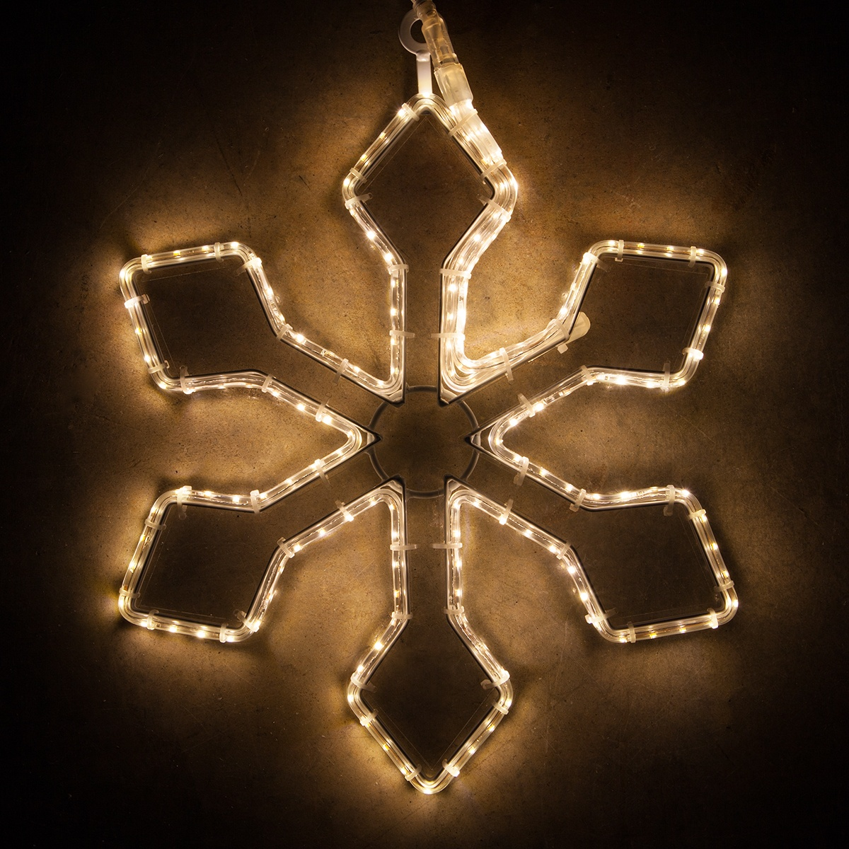 Snowflakes Amp Stars 16 Quot Warm White Led Snowflake With