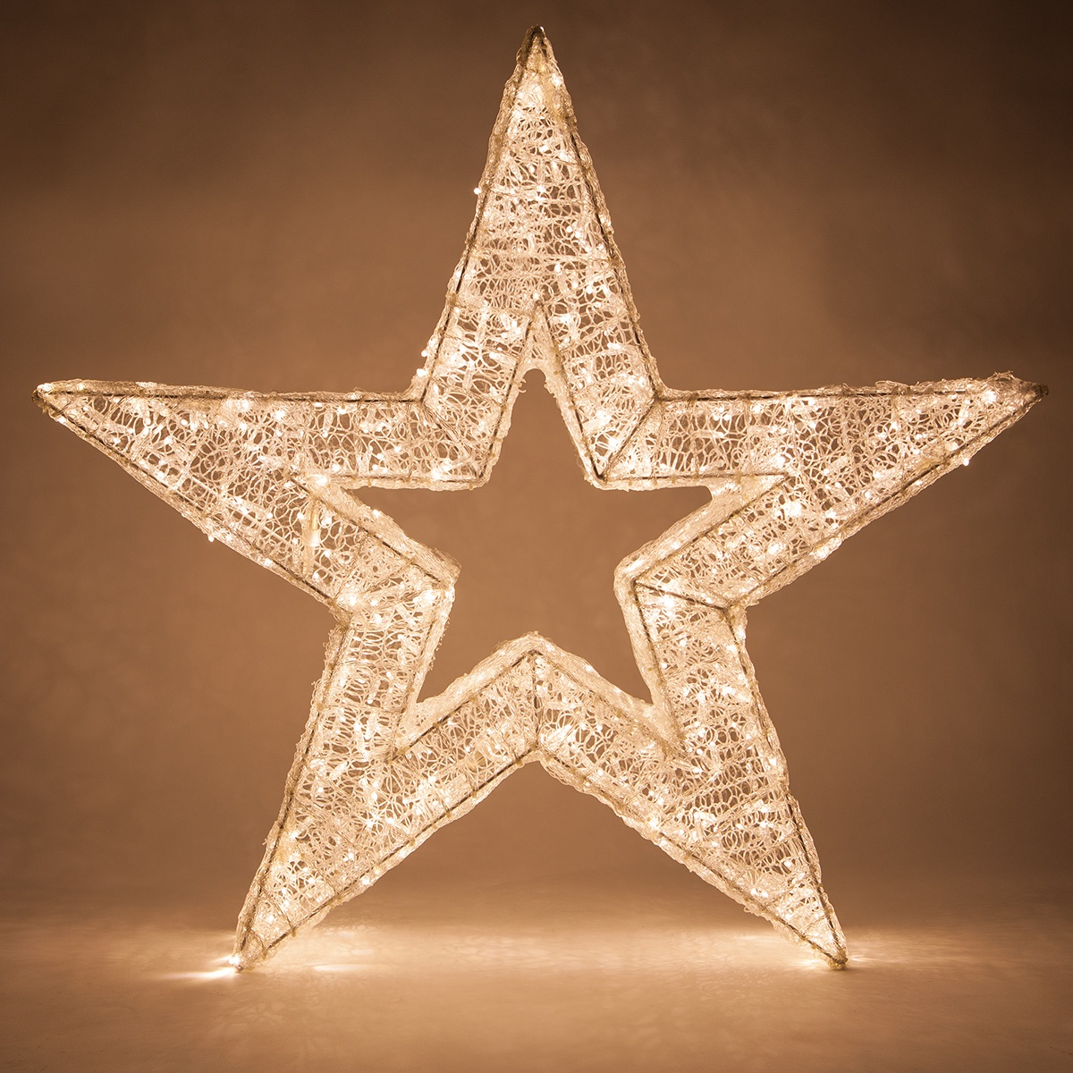 Snowflakes Amp Stars 48 Quot Warm White Led Five Point