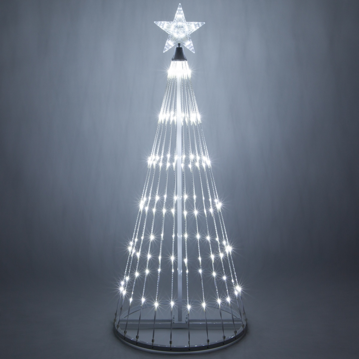Cool white led animated outdoor lightshow tree - Large bulb exterior christmas lights ...