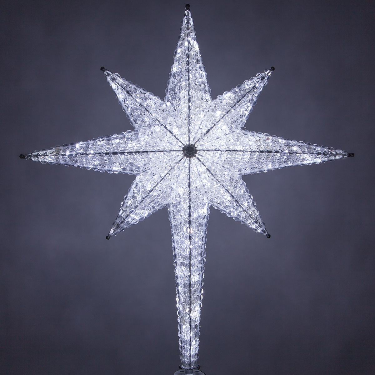 "Star For A Christmas Tree: 48"" Shimmering Cool White LED"