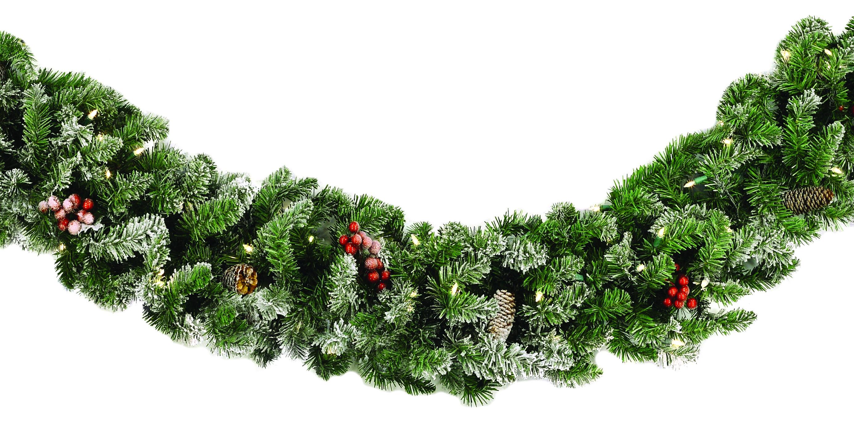 lighted christmas garland hawthorne prelit led christmas garland warm white lights