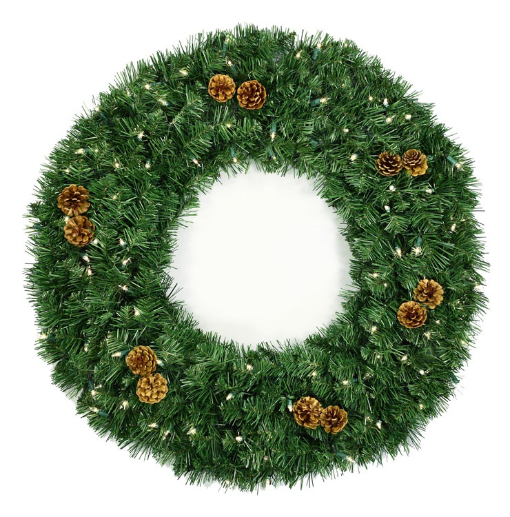 Artificial christmas wreaths winchester fir prelit led for Led wreath outdoor