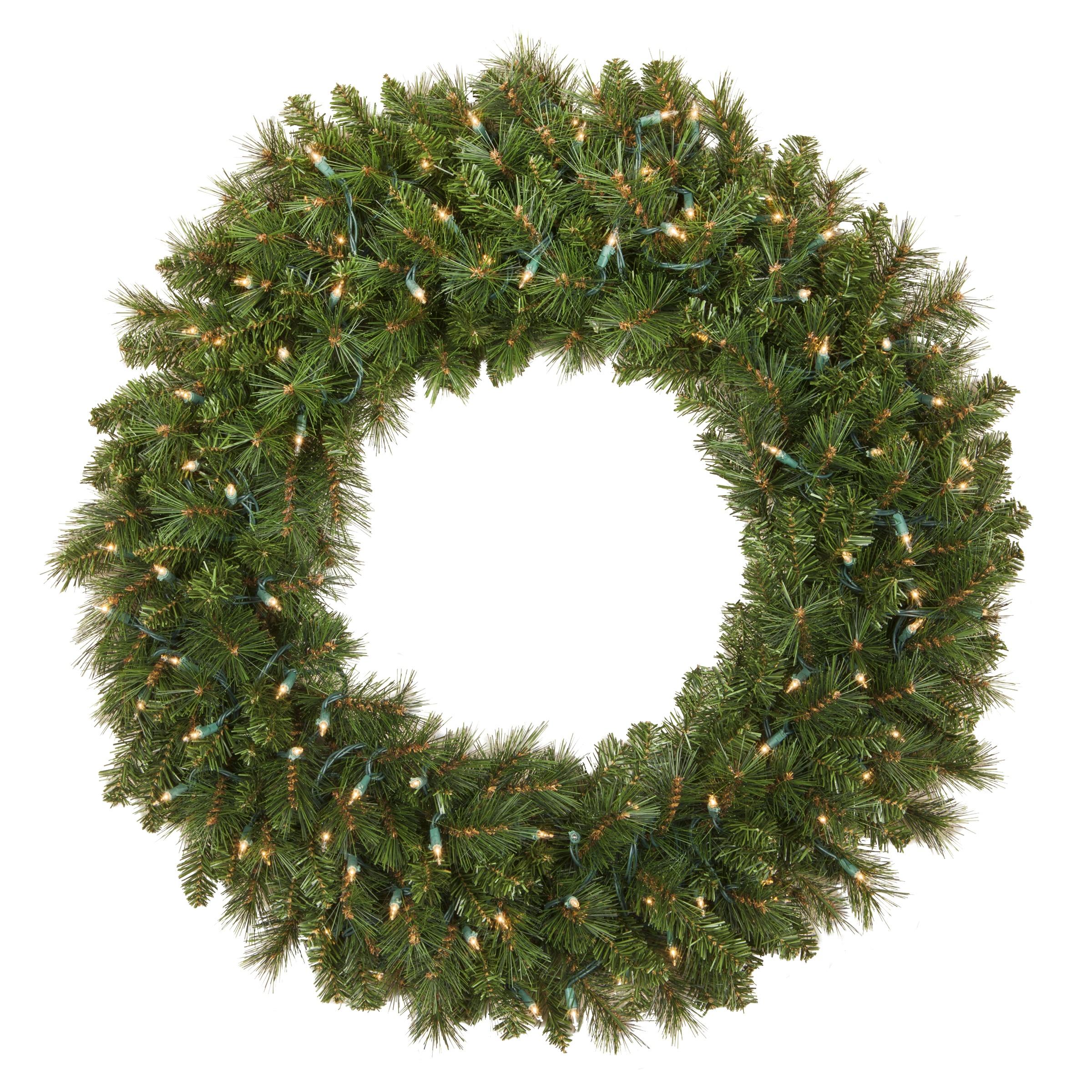 48 Inch Pre Lit Christmas Wreath