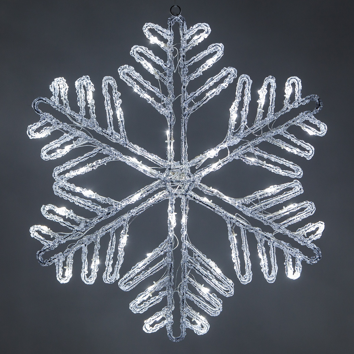 Snowflakes Amp Stars 25 Quot Cool White Led Double Sided Ice