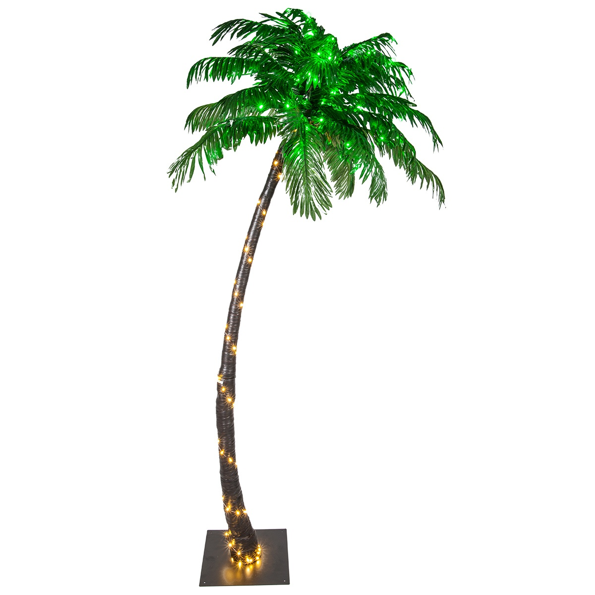 7' LED Curved Lighted Palm Tree