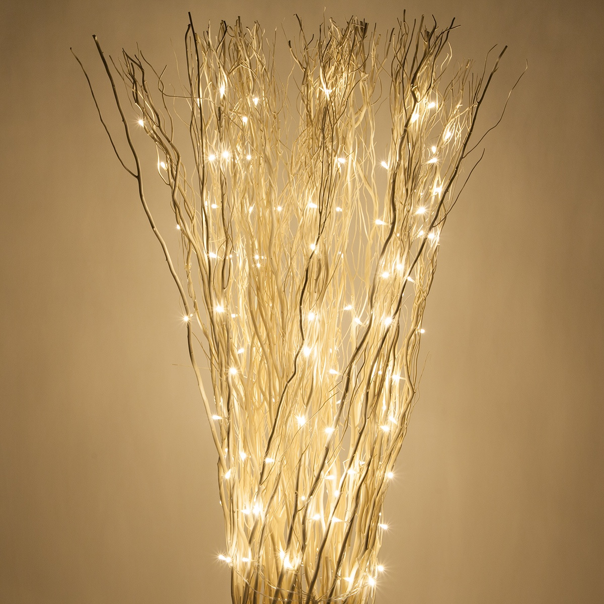 Lighting Warehouse Branches: White Free Standing Willow Lighted Branches With Warm