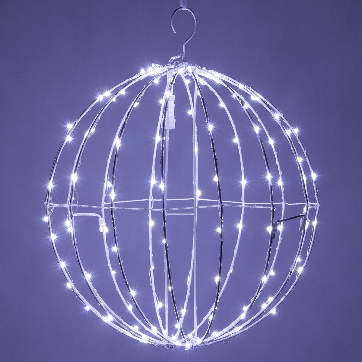 Cool White Led Fairy Christmas Light Ball Fold Flat White