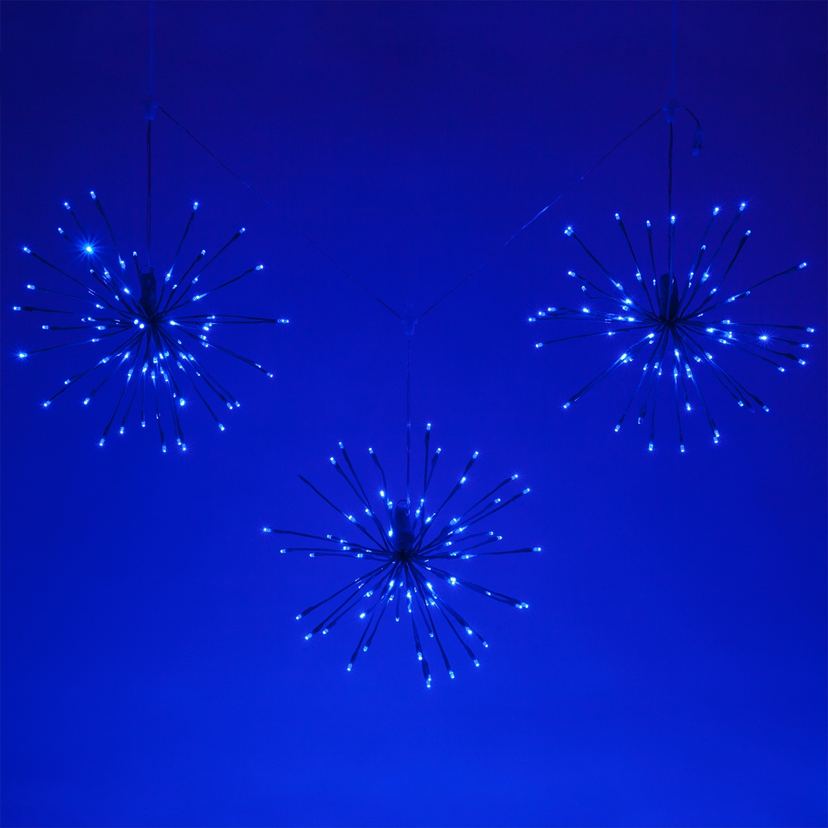 Blue Starburst Lighted Branches With Blue Led Twinkle