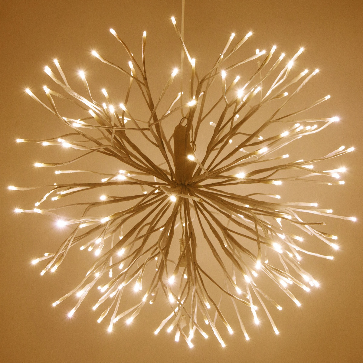 White Starburst Lighted Branches With Warm White Led