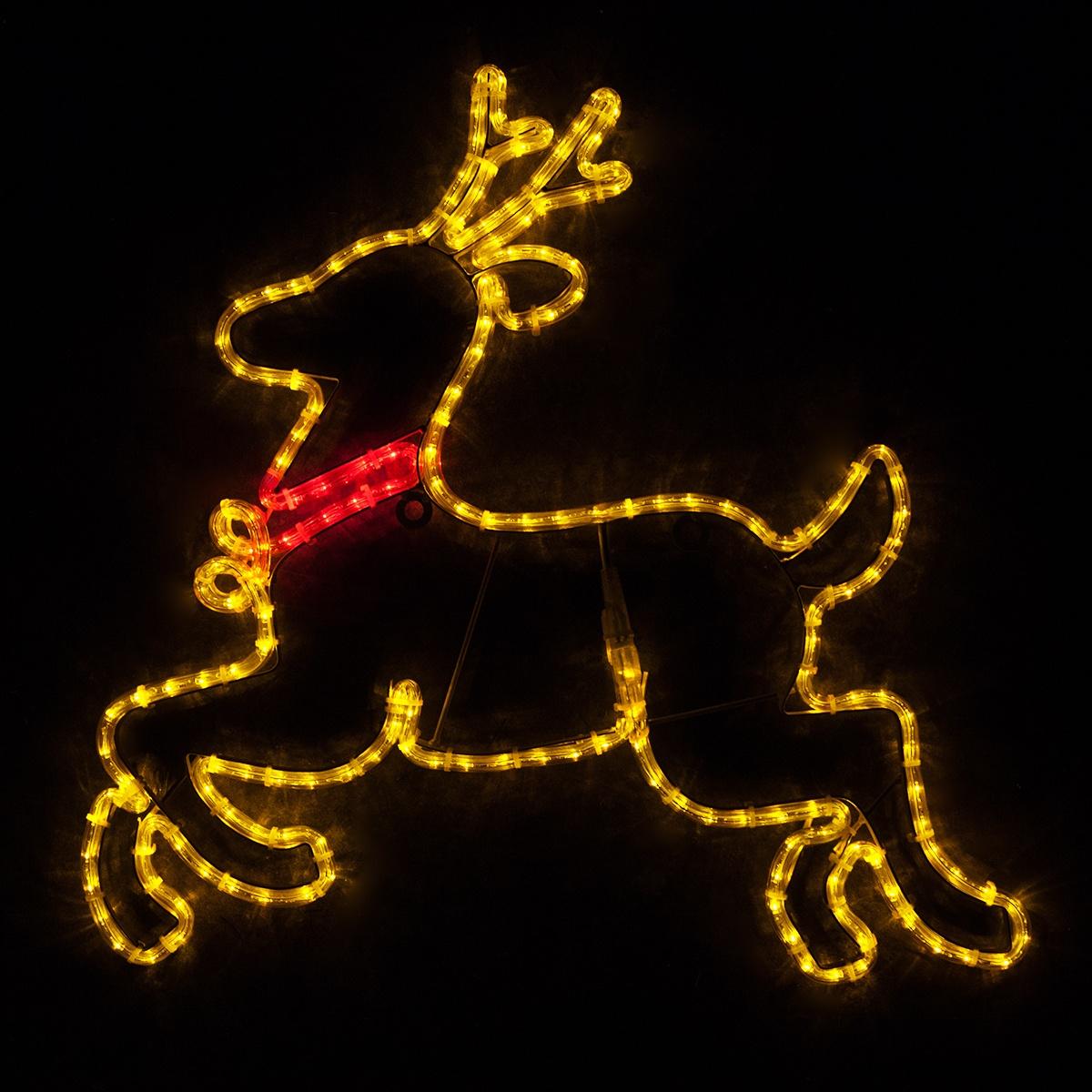 Outdoor Decoration 28 Quot Led Reindeer Gold Lights