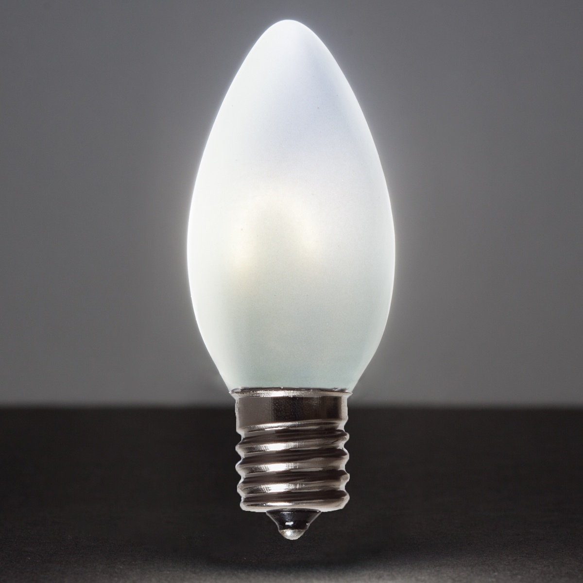 c9 cool white glass flexfilament tm led vintage christmas light bulb satin. Black Bedroom Furniture Sets. Home Design Ideas