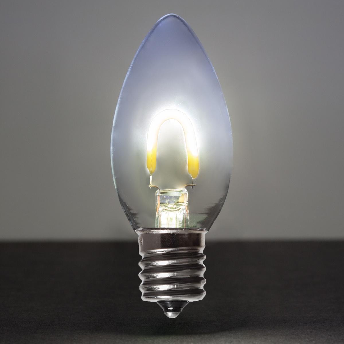 C9 Christmas Light Bulbs For Sale C9 Lamps For Sale C9: C9 Cool White Glass FlexFilament TM LED Vintage Christmas