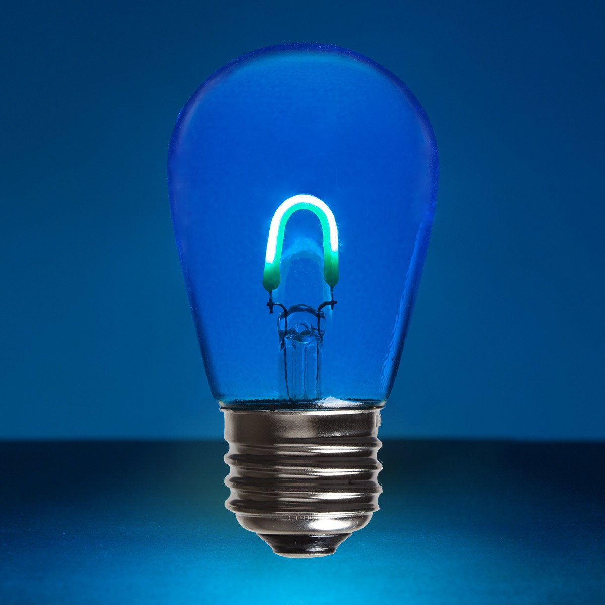 S14 Blue Glass Flexfilament Tm Led Edison Bulb Transparent
