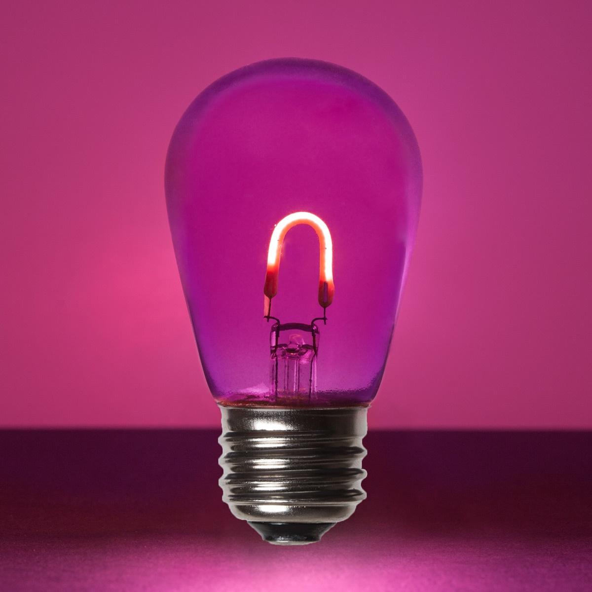 S14 Purple Glass Flexfilament Tm Led Edison Bulb Transparent