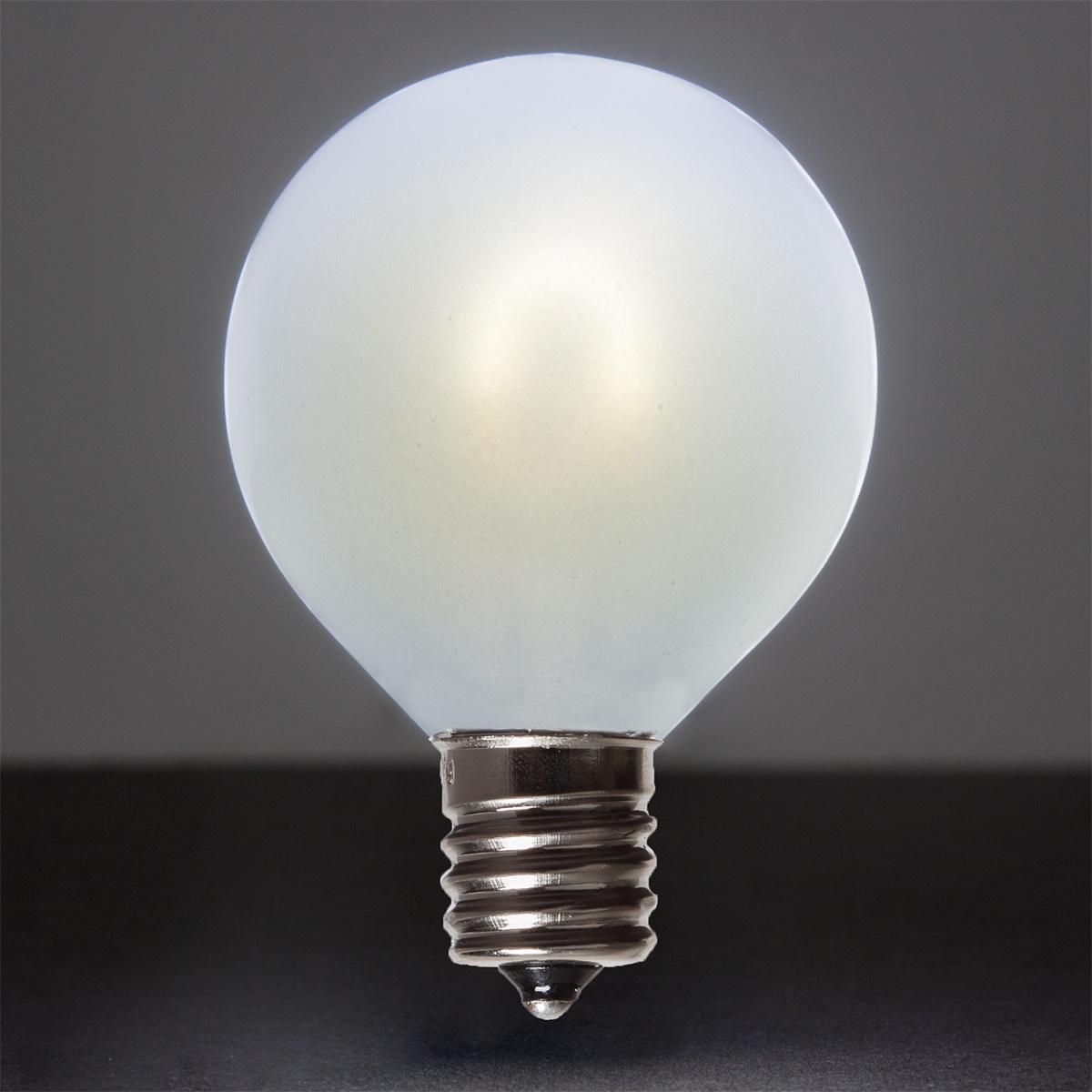 Led Bulbd: G50 Cool White Glass FlexFilament TM LED Edison Bulb, Satin
