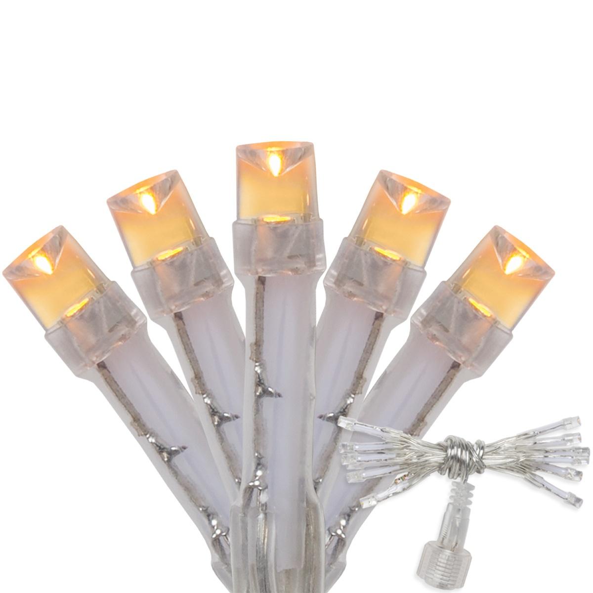 Aurora Superstar TM Light String, 12 Gold LED Mini Lights, Clear Wire