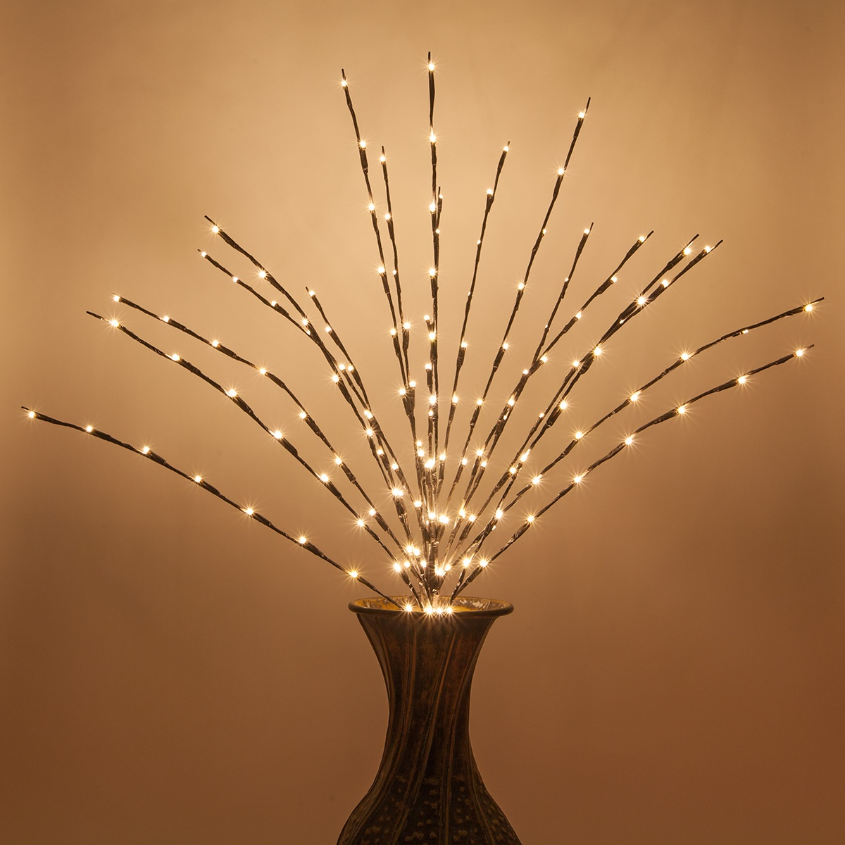 Brown Lighted Branches With Warm White Led Lights 1 Pc