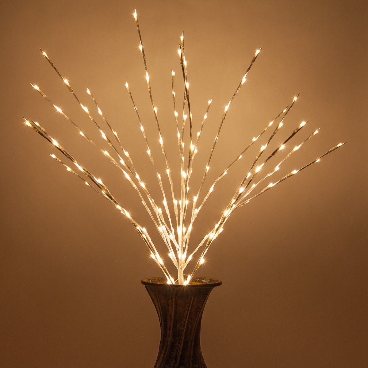 White Lighted Branches With Warm White Led Lights 1 Pc