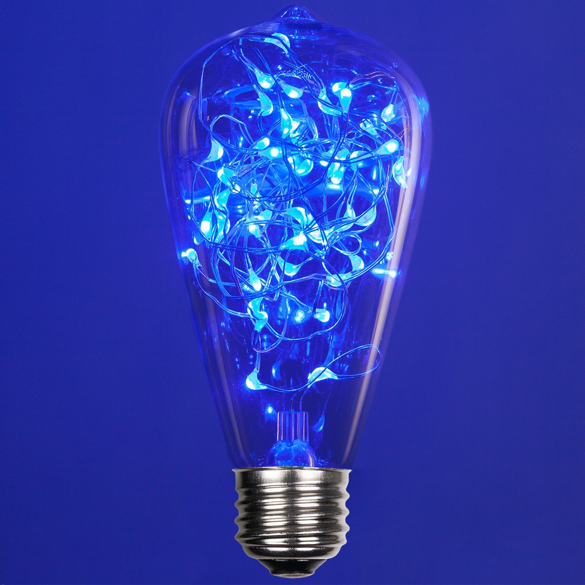 St64 Blue Ledimagine Tm Fairy Light Bulb
