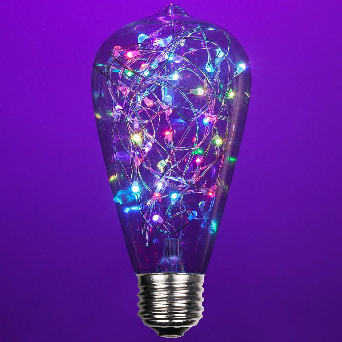 St64 Color Change Rgb Ledimagine Tm Fairy Light Bulb