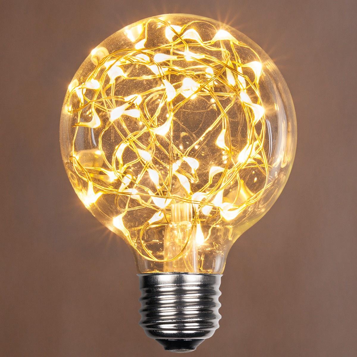 G80 Warm White Ledimagine Tm Fairy Light Bulb