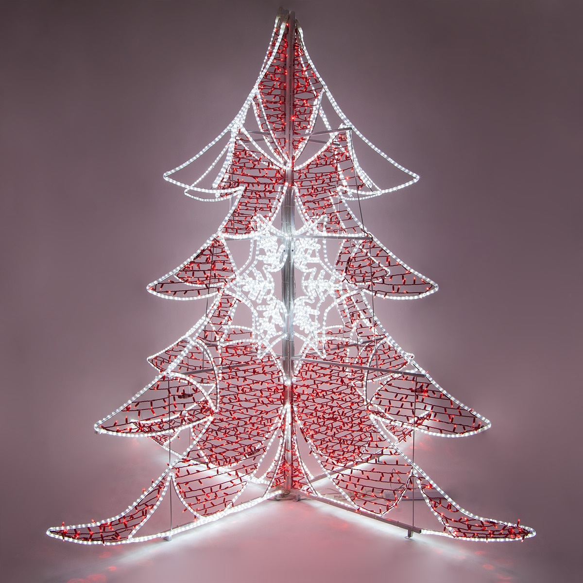 Outdoor Christmas Decorations 9 Red And White Led Ice
