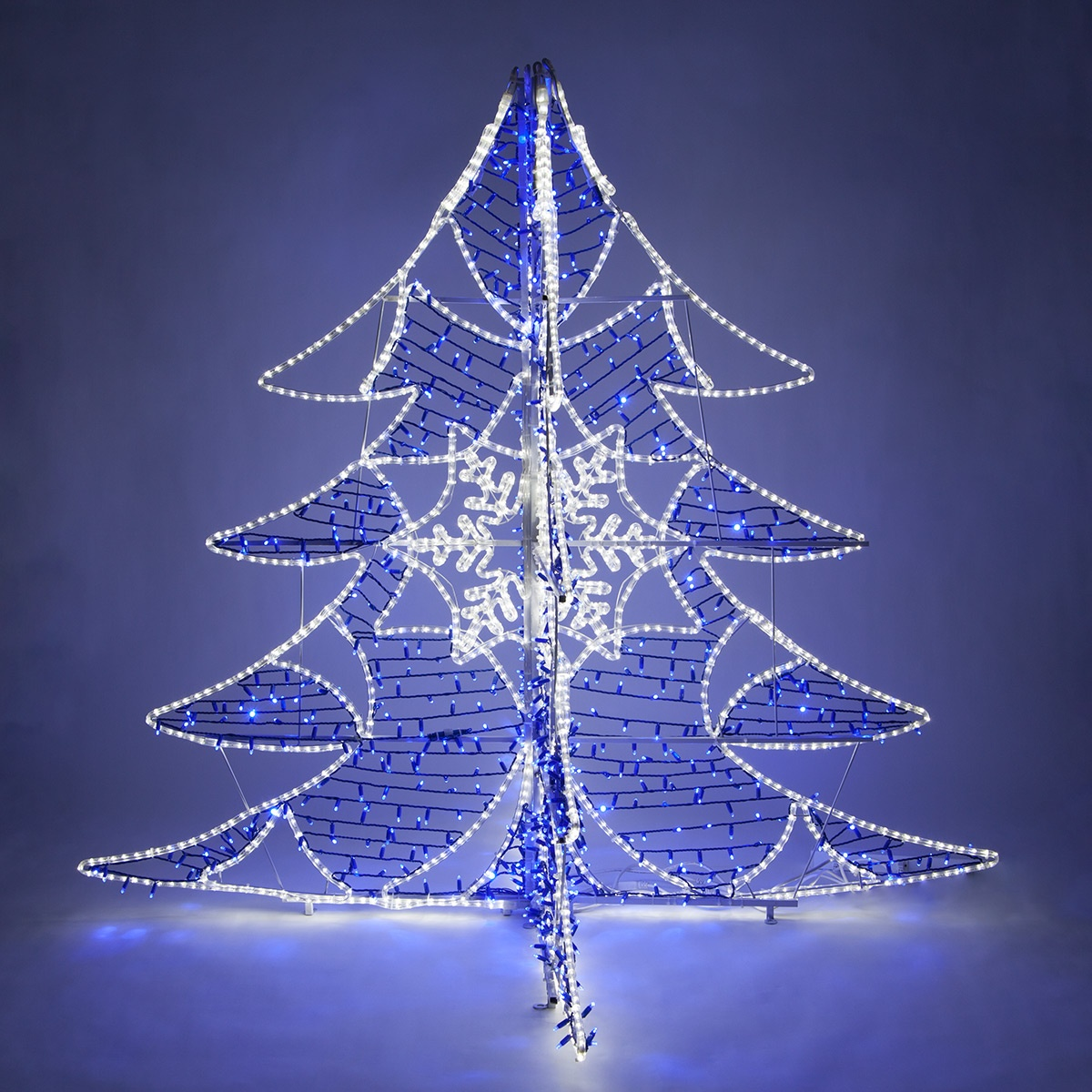 Outdoor Christmas Decorations 6 Blue And White Led Ice