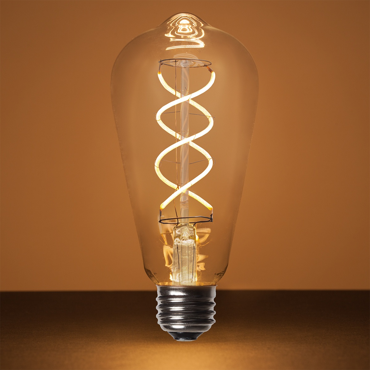 ST64 5W Warm White Glass FlexFilament TM LED Edison Bulb