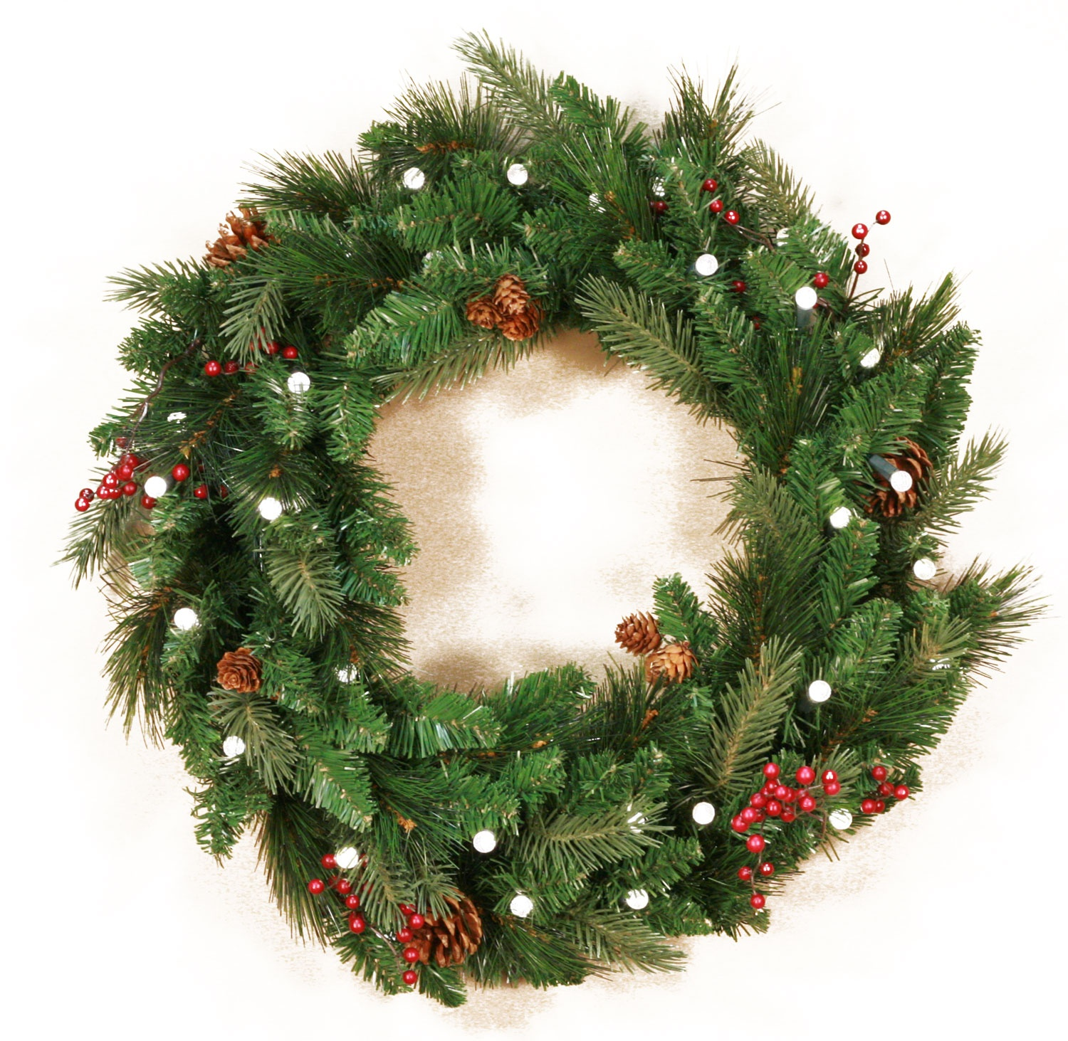 decorative wreaths mixed white spruce battery operated led wreath warm white lights