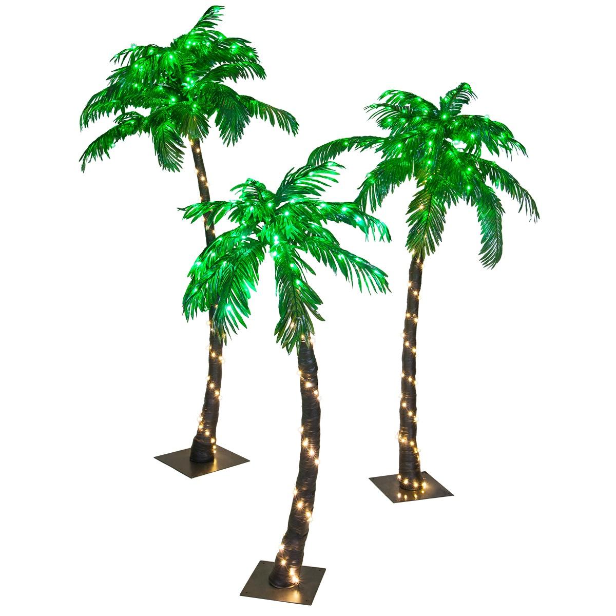 Christmas Lights Palm Trees: LED Curved Lighted Palm Tree