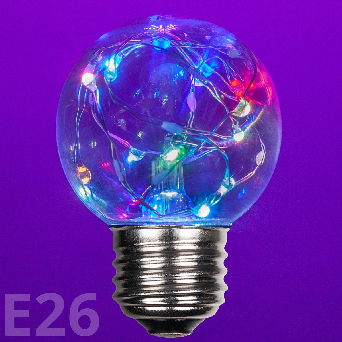 G50 Color Change Rgb Ledimagine Tm Fairy Light Bulb E26 Base