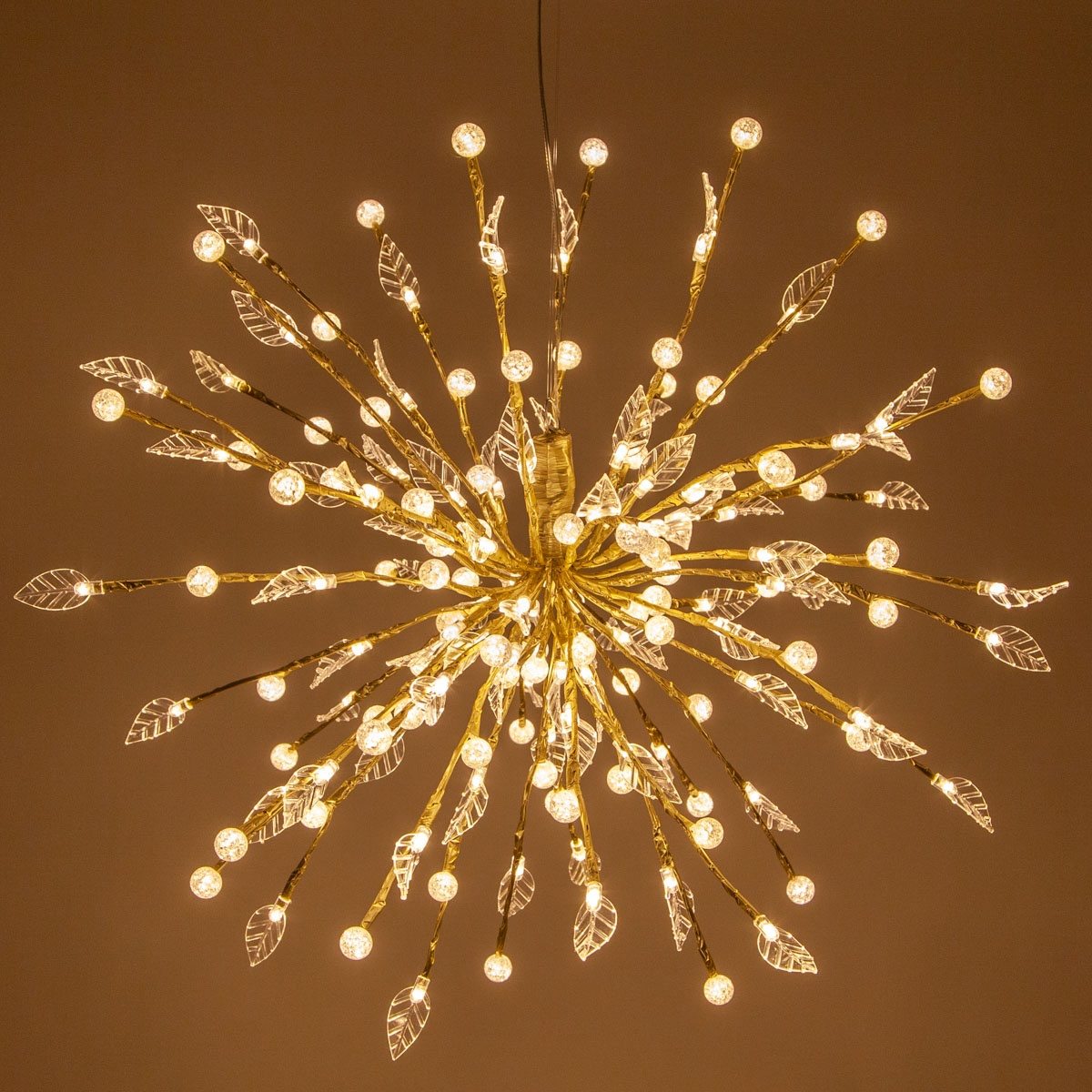 Gold Wedding Decorations: Gold Starburst Lighted Branches With Warm White LED Lights