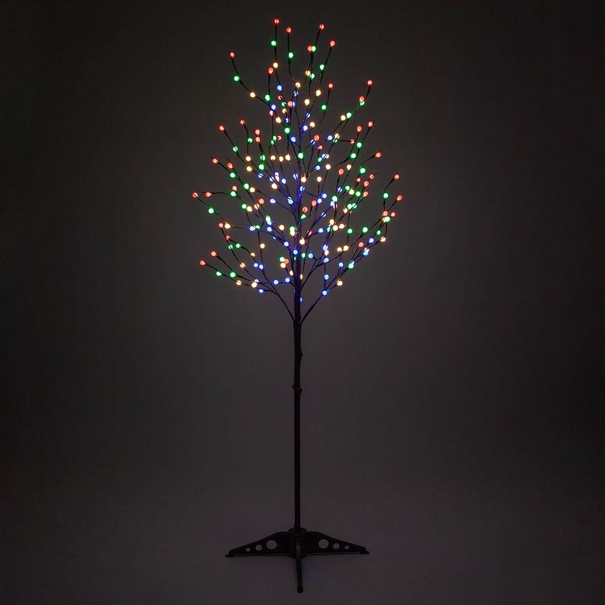 Brown Led Tree With Multicolor Mini Globe Lights