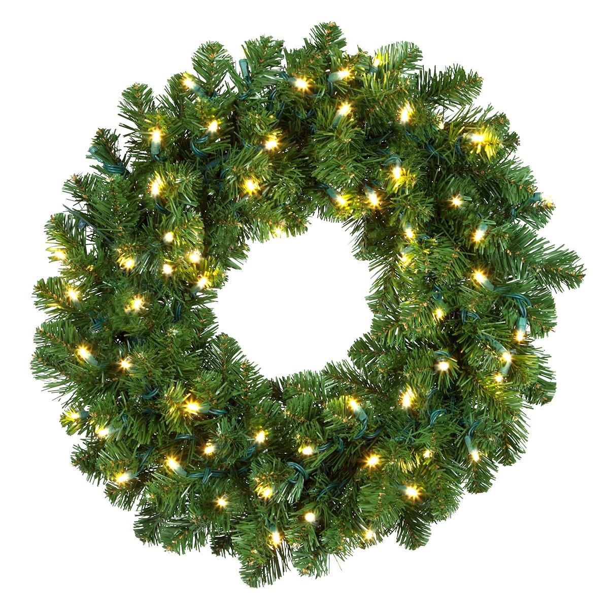 Halloween Window Decorations: Artificial Christmas Wreaths