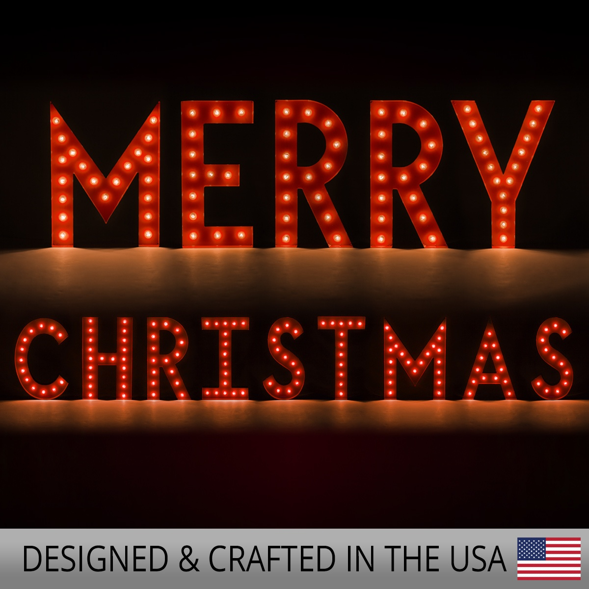 Outdoor Decoration 48 Quot Red Merry Christmas Marquee Letters