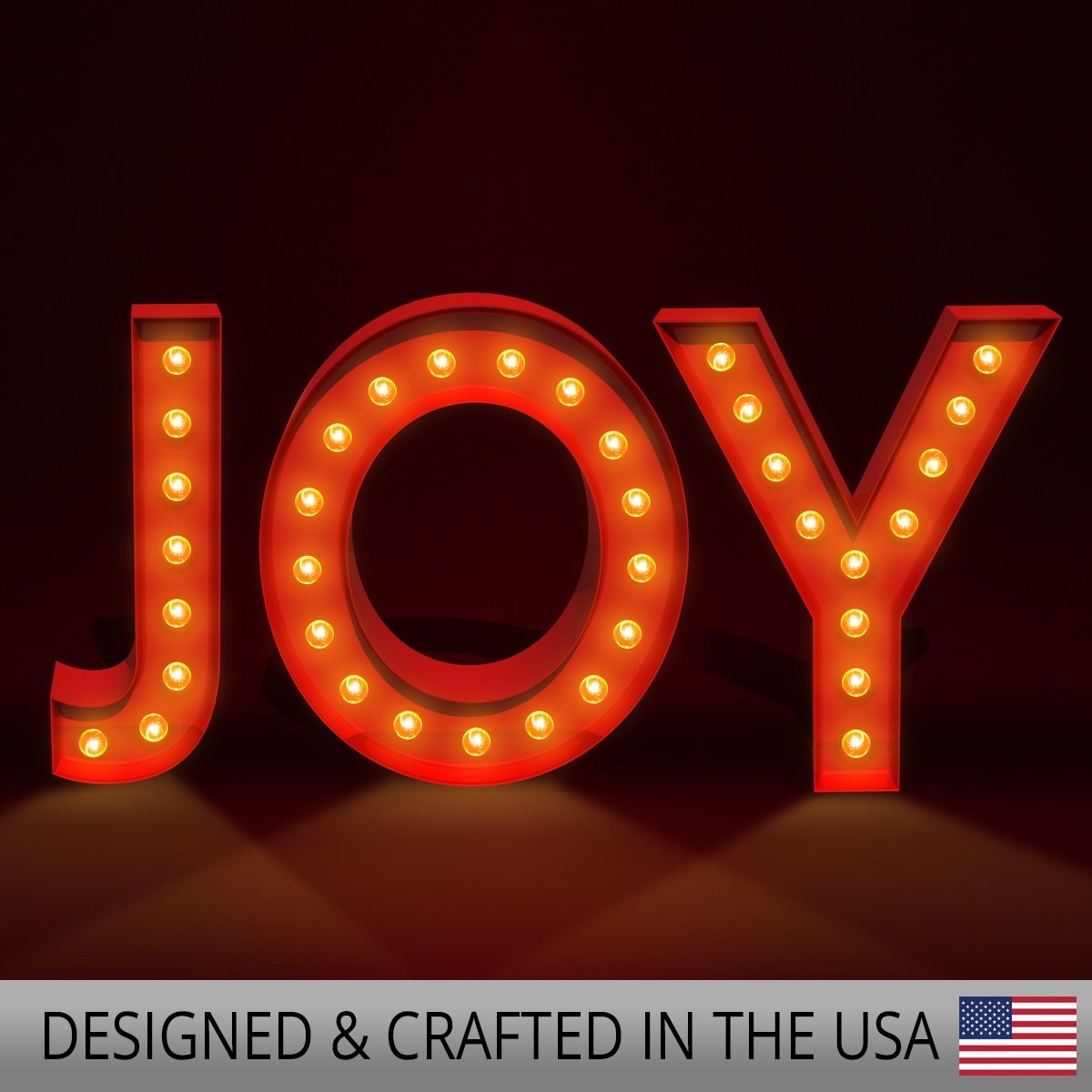 Red Joy Marquee Letters