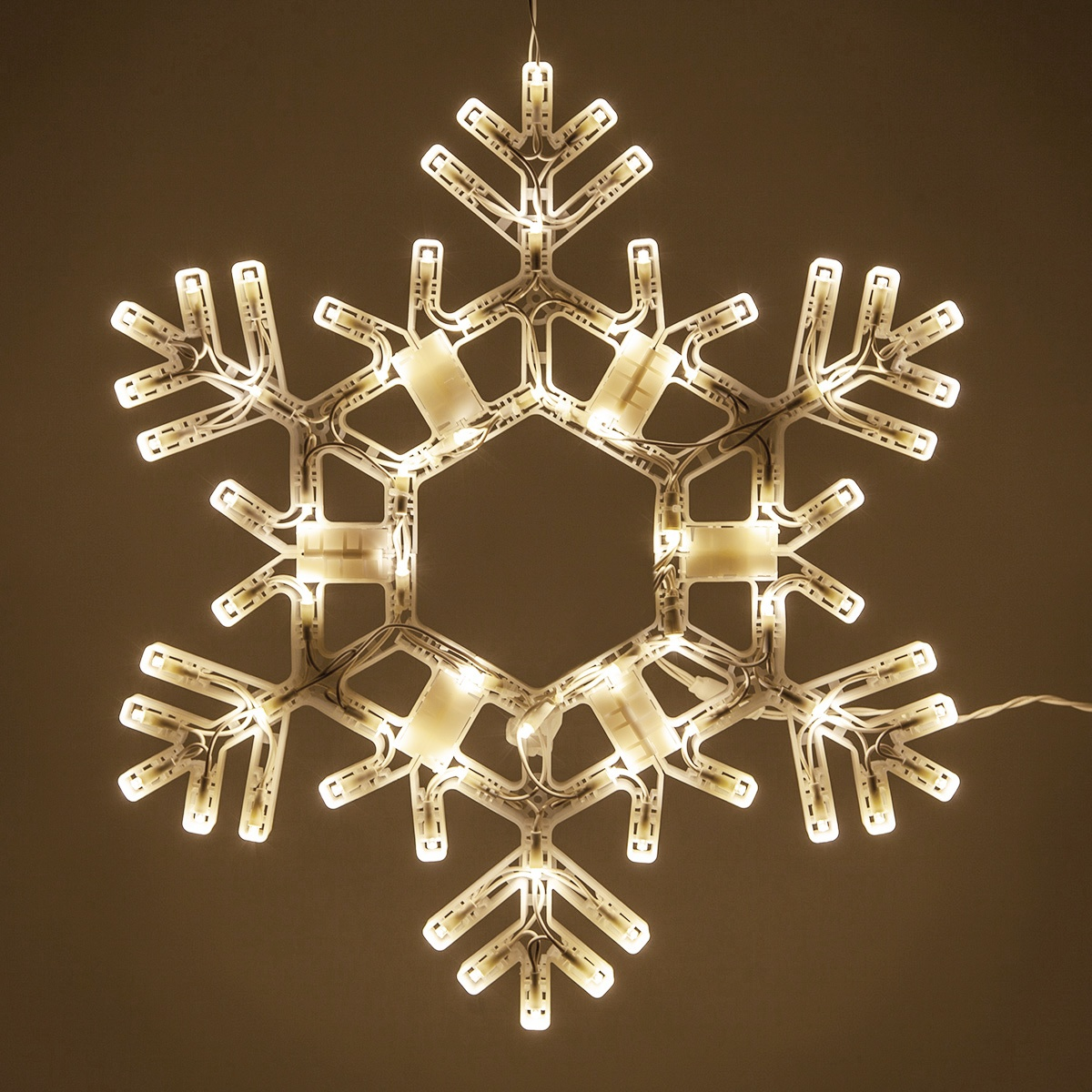 Snowflakes Amp Stars 20 Quot Led Folding Snowflake Warm White
