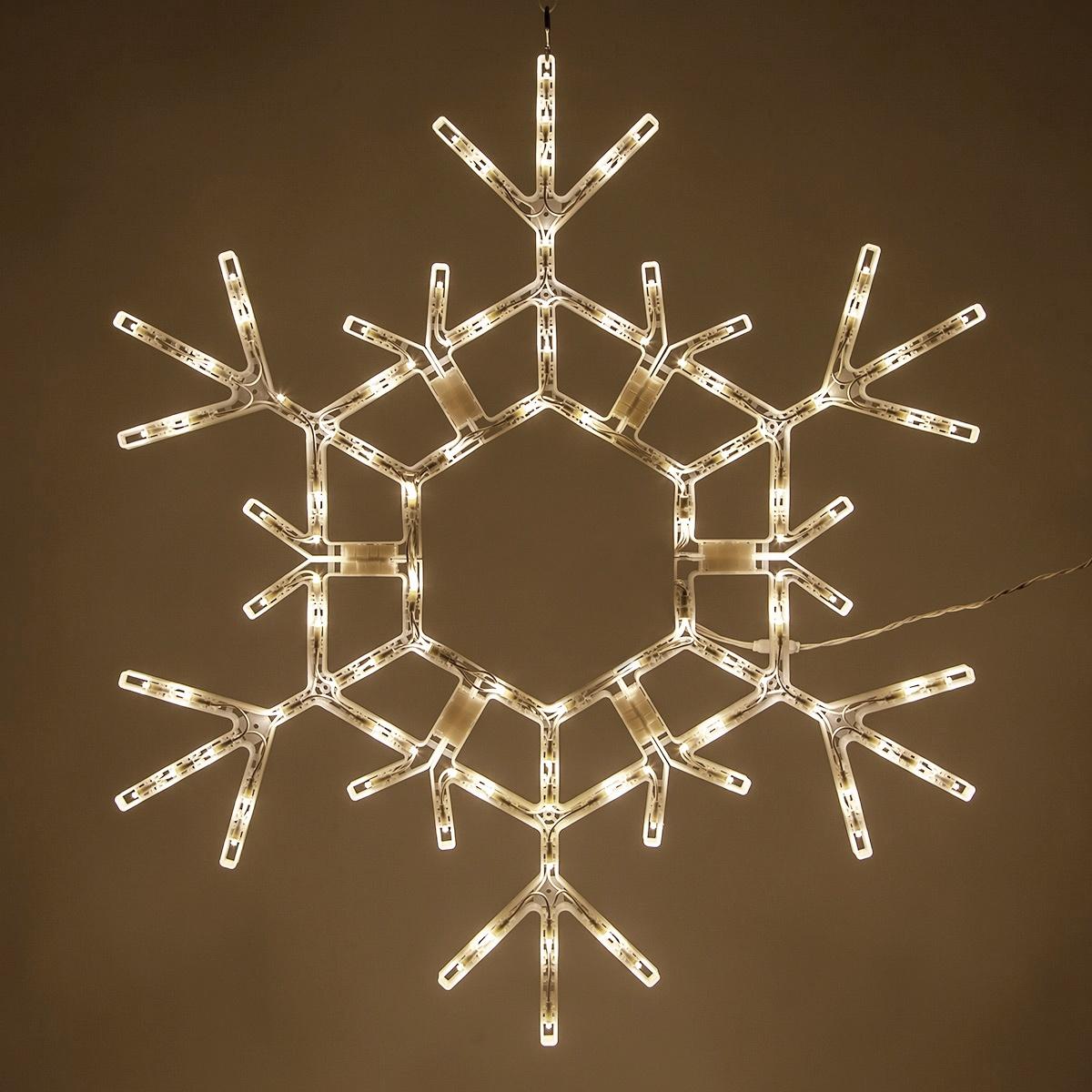 Snowflakes Amp Stars 36 Quot Led Folding Snowflake Warm White